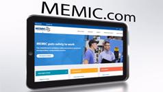 Screenshot of MEMIC website on smartphone