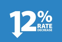 12% Rate Decrease