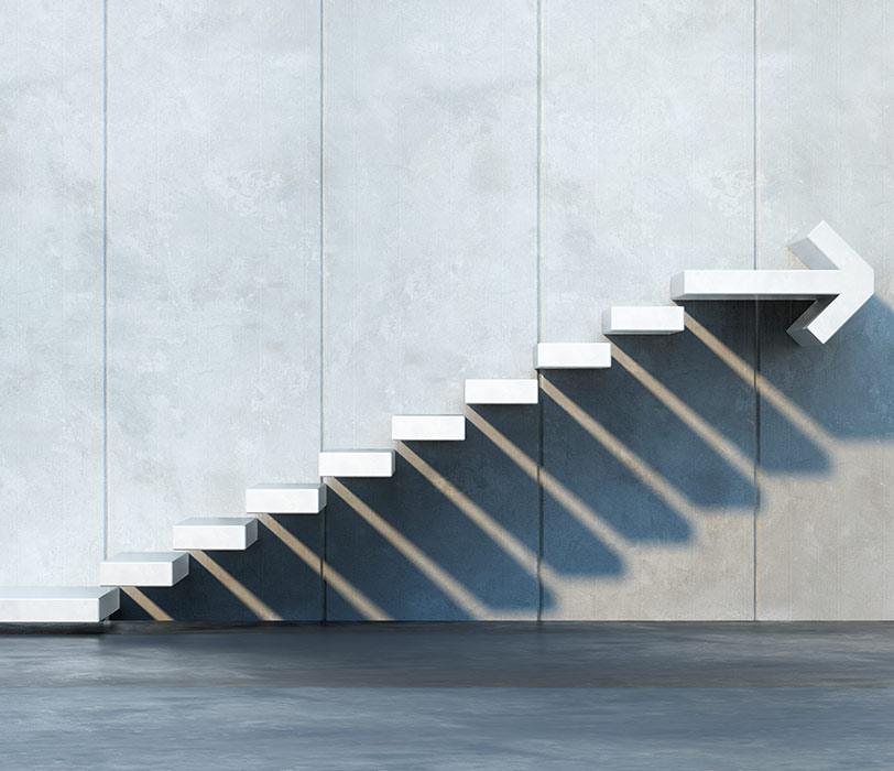 Stair steps to progress