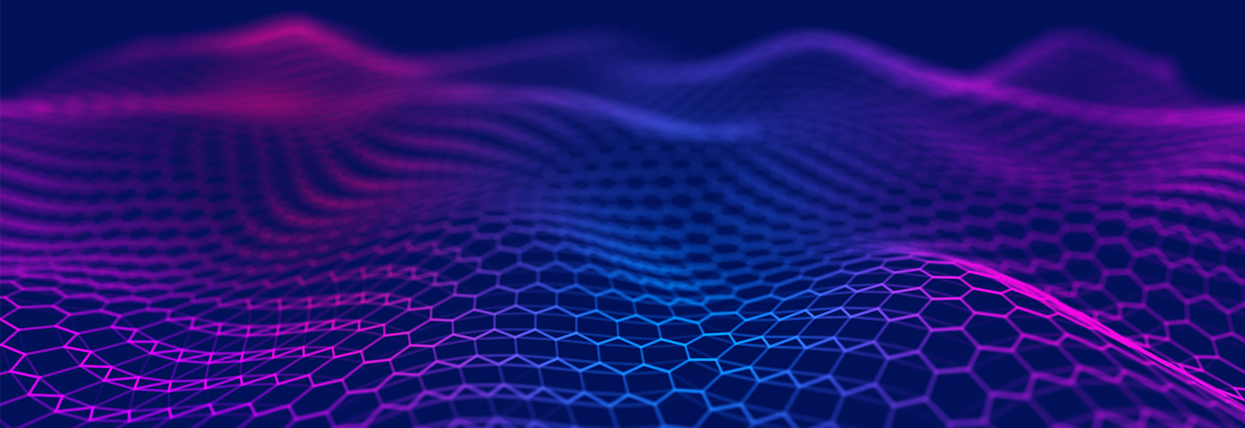 Wavy purple hexagonal graphic design