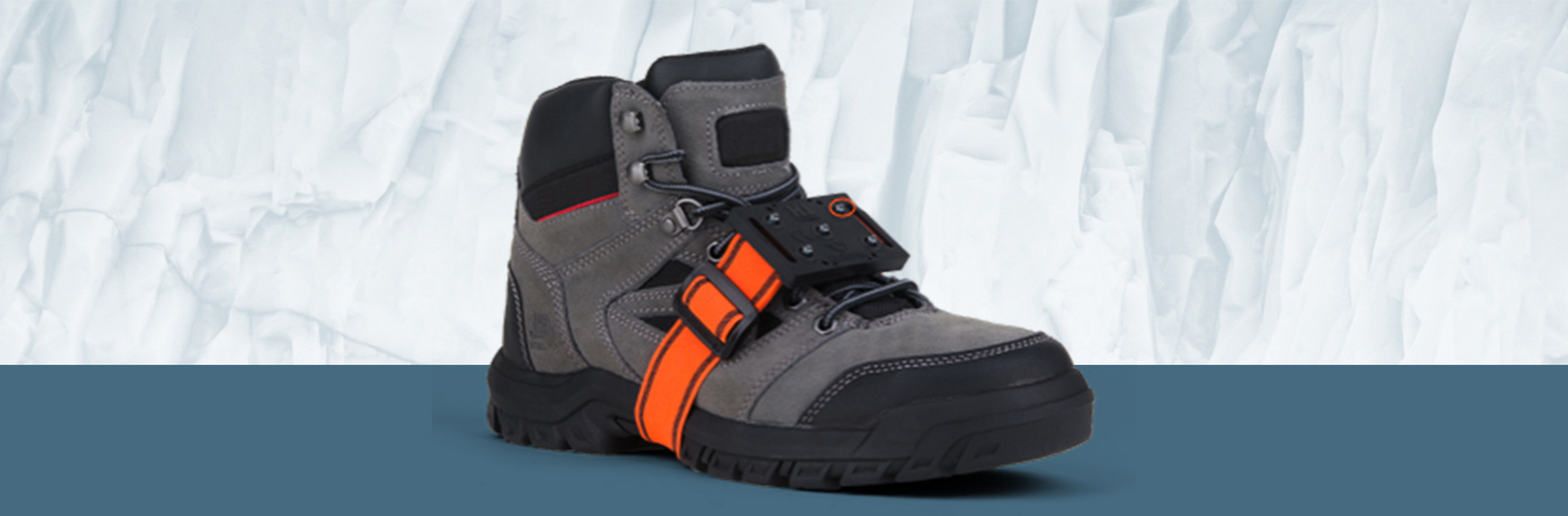 Rugged boot with ice cleats