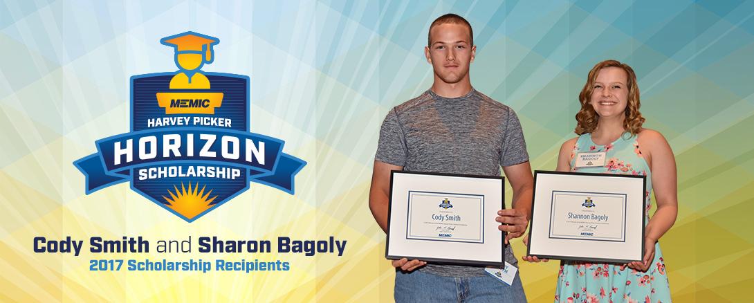Harvey Picker Horizon Scholarship Cody Smith and Sharon Bagoly