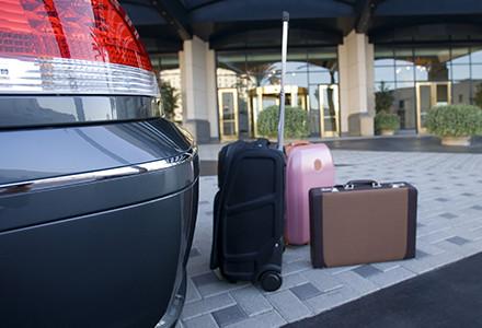 baggage on curb
