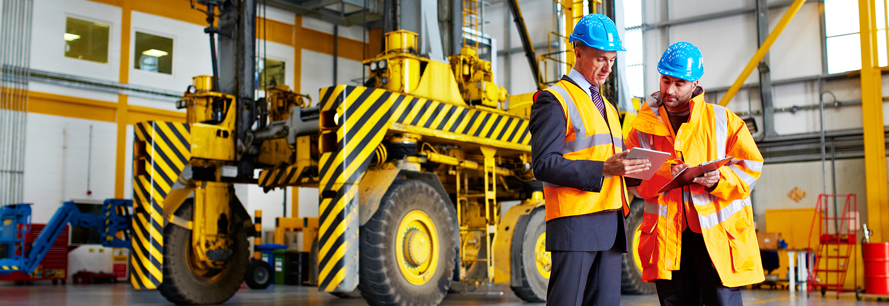 Workers conducting job hazard analysis