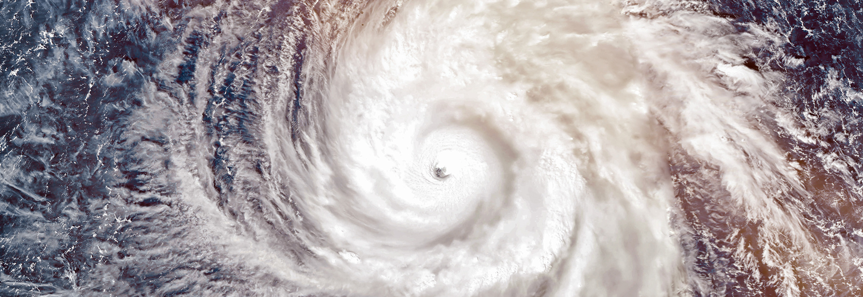 Satellite photo of large hurricane system