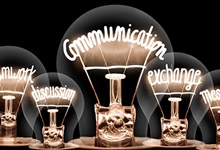 Communication-themed lightbulbs