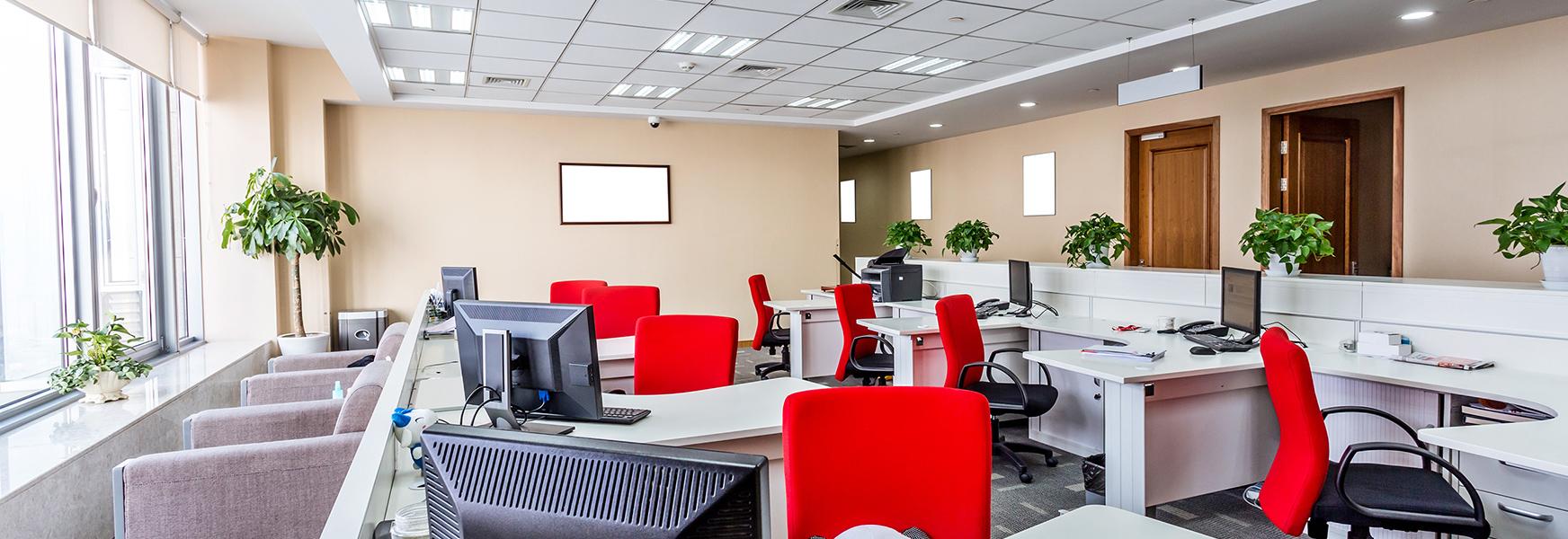 Well-lit modern office