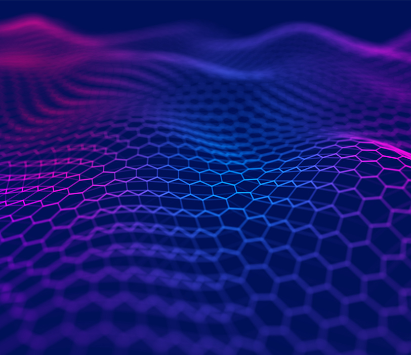 Purple abstract hexagonal wave