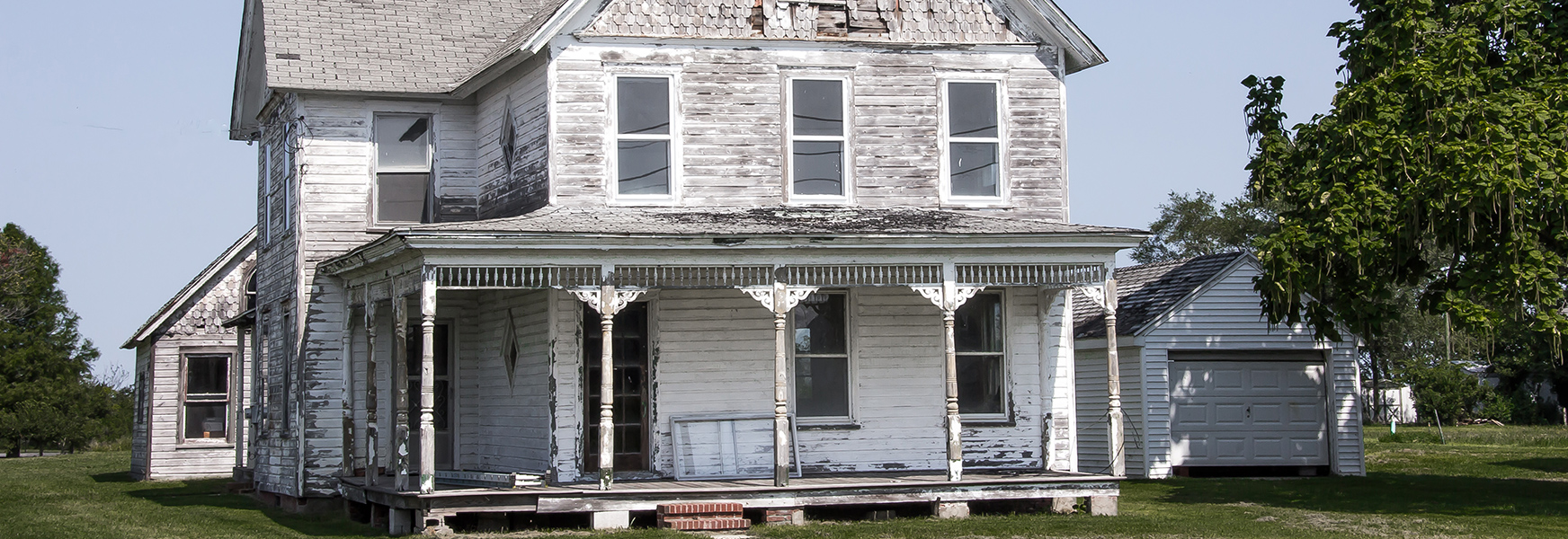 Old house with worn out paint