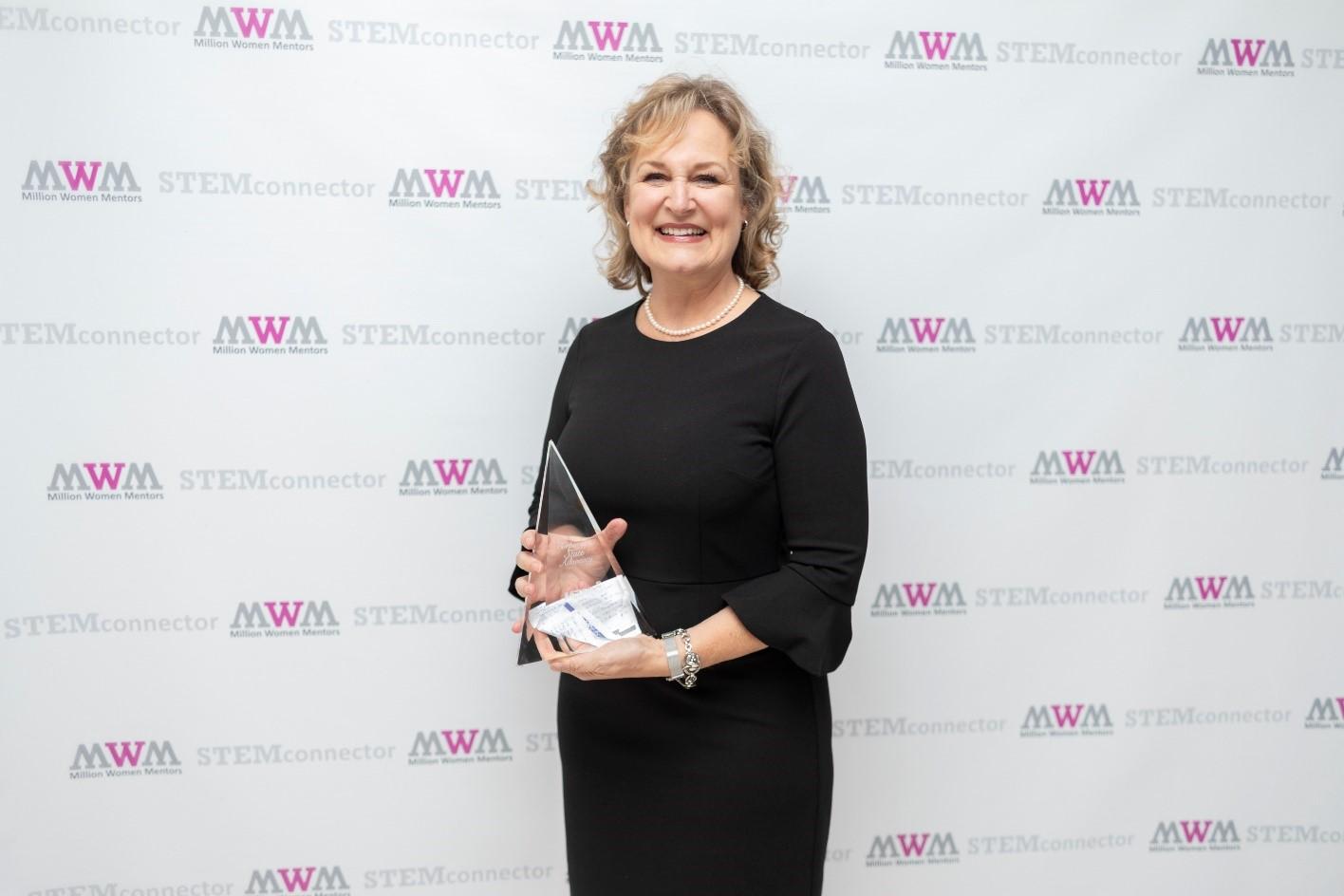 Senior manager with award