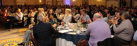 MEMIC employees at the 2019 MEMIC all employee luncheon.