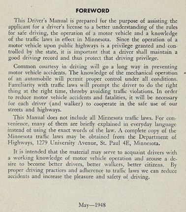 Drivers Manual Foreword