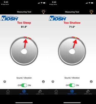 NIOSH free Ladder Safety App