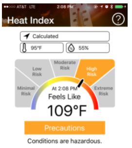 NIOSH Heat Safety Tool