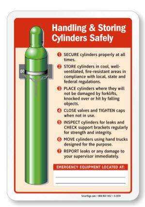 Stored compressed gas cylinder.