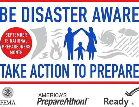September is National Preparedness month, take action to prepare.